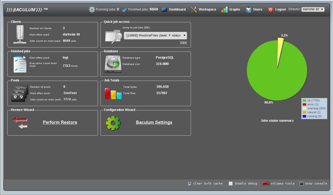 Baculum Web GUI Tool