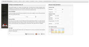 BWeb Bacula Web Interface - backup policy