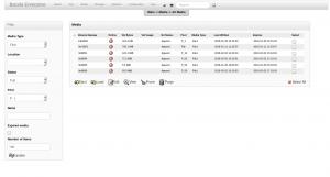 BWeb Bacula Web Interface - list media