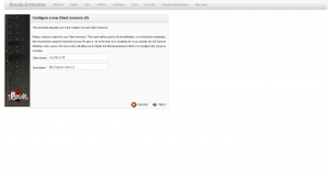 BWeb Bacula Web Interface - new client wizard 1