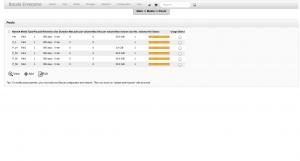 BWeb Bacula Web Interface - pool list