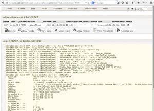Bweb 06 - Finished job log